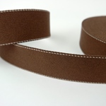 Gurtband 40 mm braun mit weißer Ziernaht