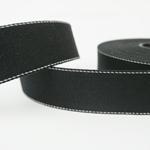 Gurtband 40 mm schwarz mit Ziernaht
