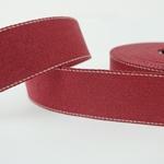 Gurtband 40 mm bordeaux mit Ziernaht
