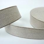 Gurtband 40 mm sand mit brauner Ziernaht