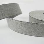 Gurtband 40 mm hellgrau mit Ziernaht