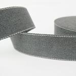 Gurtband 40 mm anthrazit mit Ziernaht