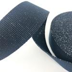 Gurtband mit Lurex 40 mm navy silber