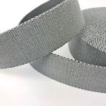 Gurtband mit Lurex 40 mm grau silber