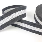 Gurtband 38 mm grau weiß grau