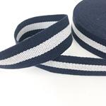 Gurtband 38 mm navy weiß navy
