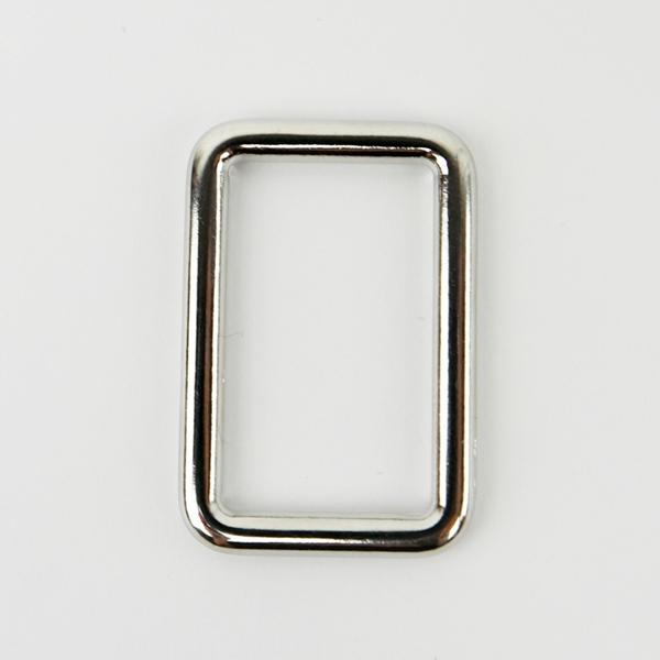 Metall Rechteck 25 mm silber