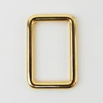 Metall Rechteck 25 mm gold