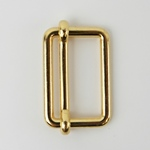 Metallschließe Versteller gold 25 mm