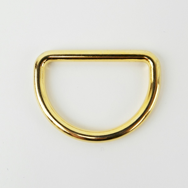 Metall D-Ring 25 mm gold