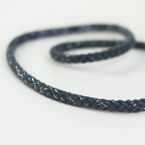 breite Kordel Lurex 8 mm grau silber
