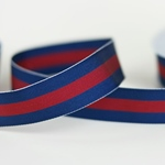 Ripsband gestreift 25 mm navy rot
