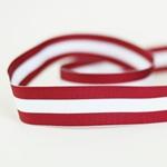 Ripsband gestreift 25 mm rot weiß