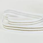 Ripsband gestreift 20 mm weiß gold