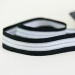 Ripsband gestreift 30 mm schwarz silber