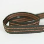Ripsband gestreift 20 mm khaki kupfer