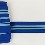 Ripsband gestreift 35 mm  blau