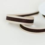 Glitzer-Ripsband gestreift 15 mm creme
