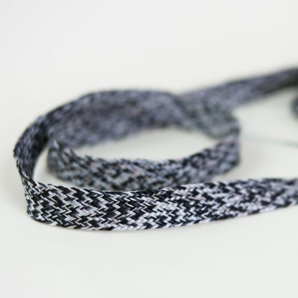 Baumwolltresse 18 mm mehrfarbig schwarz