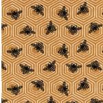 BUSY BEE Jersey Bienen Waben honiggelb
