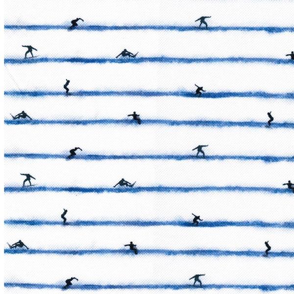 JENS Polo Pique Jersey Surfer jeansblau