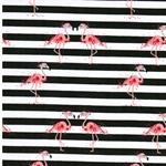 FLAMINGO Jersey Streifen Flamingos army