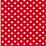 VERENA Jersey Dots rot weiß