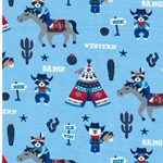 COWBOY BLUE Jersey Wild West Motive