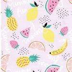 SUMMER FUN Jersey Früchte rosa