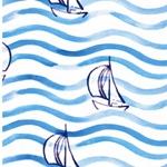 HARBOUR BOATS Jersey Segelboote weiß bla