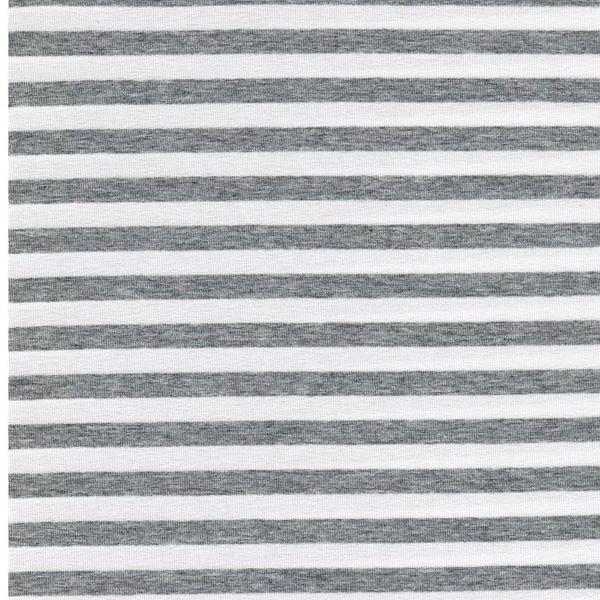 VAUBOURG Viskosejersey Streifen grau wei