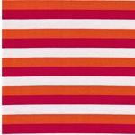 AKIKO Viskosejersey Streifen pink orange