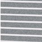 BENJA Viskosejersey Streifen grau weiß