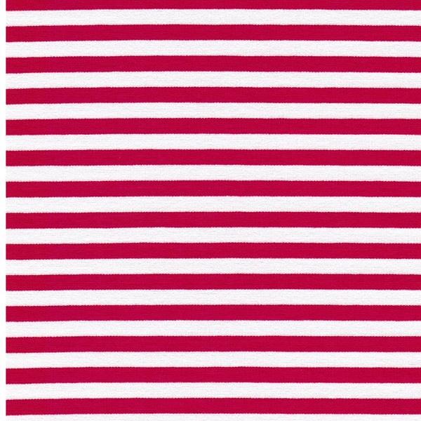 RUBY Viskosejersey Streifen pink weiß