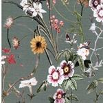 MARINA Viskosejersey Blumen oliv