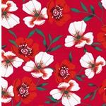 ROLDANA Viskosejersey Blüten fuchsia