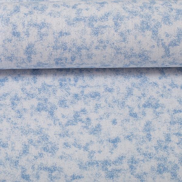 PAULA Käseleinen hellblau weiß