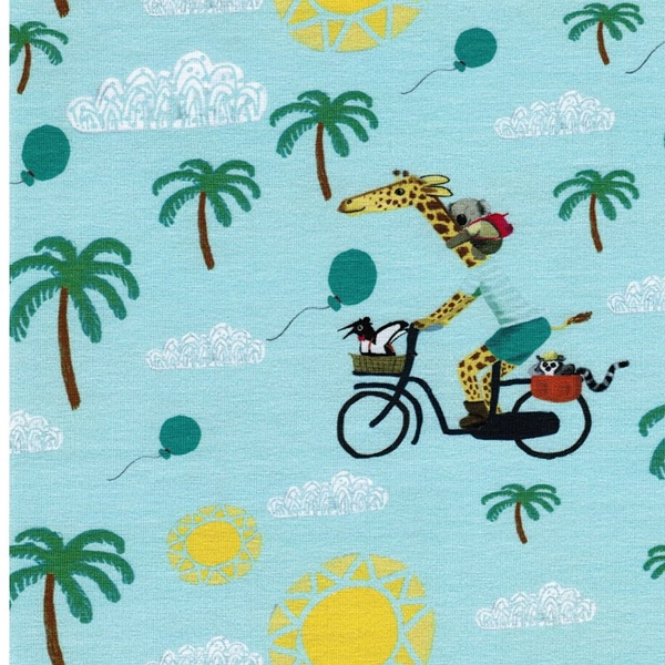 LIANE Jersey Tiere auf Radtour mint