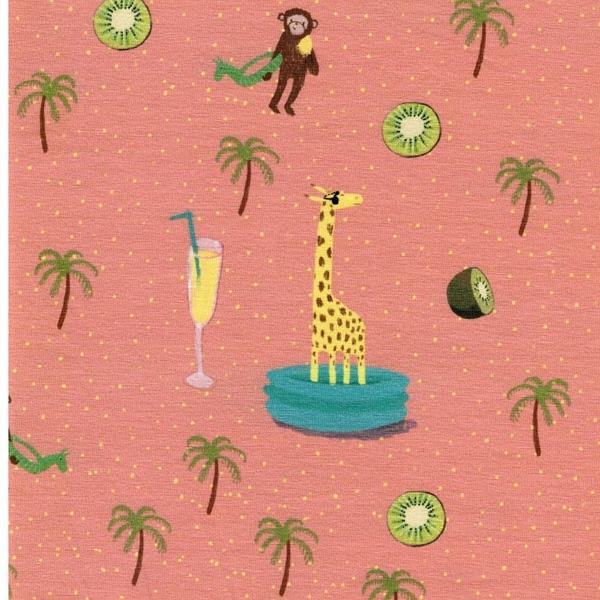 LIANE Jersey Affen Giraffen Poolparty