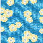 DRAGONFLY Viskose Blüten blau gelb