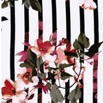 ERLINA STRIPE Viskose Blumen Streifen