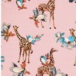 GISELA Viskose Giraffen lachsrosa