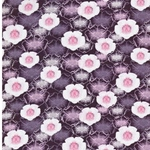 1m Reststück Viskose Blüten violett