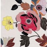 BIANCA Viskosesatin Blüten creme