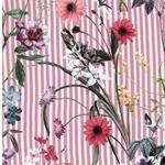JOANA Viskose Blüten Streifen altrosa