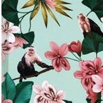 MALI Viskose Blüten Äffchen lindgrün