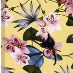 MALI Viskose Blüten Äffchen gelb
