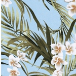 LAURA Viskose Blüten Palmblätter hellbla
