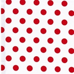ADONCIA Piquee Webware Dots weiß rot