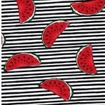 JONNE Jersey Melonen Streifen schwarz